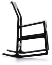 The composite material used in IKEA's Ellan rocker is lighter than plastic, but just as durable. Photo: IKEA