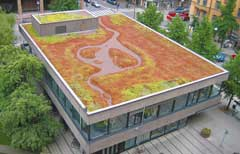 Green roofs cut energy costs, filter airborne particulates and increase humidity.