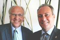 Lars G. Josefsson, President and CEO of Vattenfall (left) and Stephen Odell, President and CEO of Volvo Car Corporation