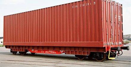 Custom-built containers allow Stora Enso to double the carriage weight of its shipments.