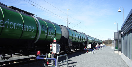 Safety and environmental considerations are strong arguments for transporting fuel by rail.