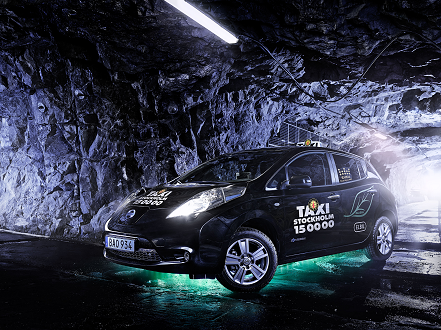 """Electric cars are silent and emission-free, which creates an amplified experience in the caverns beneath the island of Skeppsholmen,"" says Natalia Santos, Taxi Stockholm, PR and press spokesman."