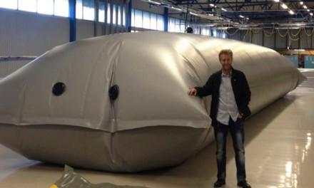 Textile biogas reactors