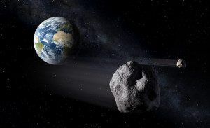 Asteroids passing Earth. Image: ESA – P.Carril.