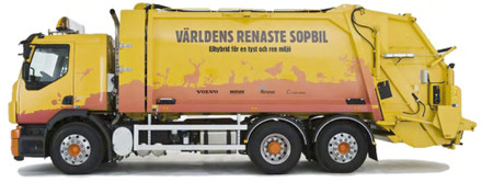 The world´s first hybrid garbage truck