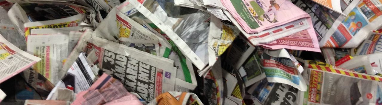 Unread newspapers insulate buildings